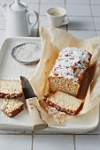 Sugar-free banana and coconut cake