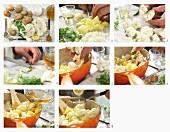Aloo Gobi (Indisches Kartoffel-Blumenkohl-Curry) zubereiten