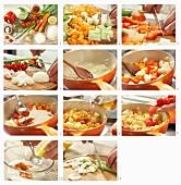 Gemüse-Paella aus dem Ofen mit Kohlrabi, Paprika und Möhren zubereiten