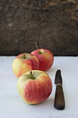 Apples with a knife
