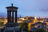 The Dugald Stewart Monument in Edinburgh, Scotland