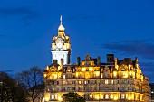 The Balmoral Hotel at dusk, Edinburgh, Scotland