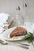 Castagnaccio (chestnut flour cake, Italy)