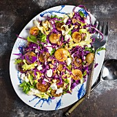 Cipollini Onion and Cabbage Salad