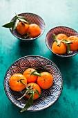 Clementinen in drei Schalen