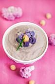 Cream of purple cauliflower and chickpeas