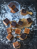 Vegan cold brew coffee ice cubes