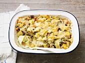 Quick pasta bake with minced beef