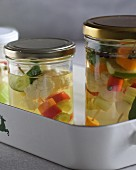 Vegetables preserved in stock