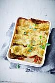 Vegan aubergine cannelloni bake (soya-free)