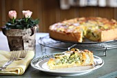 Asparagus quiche with basil
