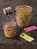 Preserved chickpeas