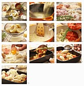 How to prepare gnocchi alla romana (gratin of semolina gnocchi, Italy) with artichokes and tomatoes