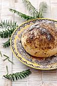 Germknödel (yeast dough dumpling for Christmas)