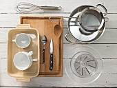 Kitchen utensils for making soufflés and compote