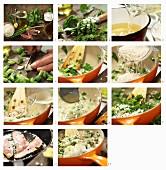 Risotto mit Spinat, Ricotta und gebratenen Rotbarbenfilets zubereiten