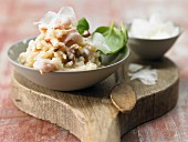 Risotto with calamari, dried tomatoes and basil