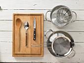 Kitchen utensils for making risotto