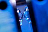Diamond anvil cell high pressure device