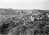 Destroyed French town, World War I