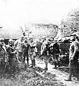 Gas attack casualties, World War I