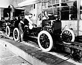 Car factory production line, 1920s
