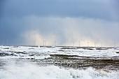 Storm waves off Walney Island, UK