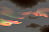 Lighting effects in nacreous clouds