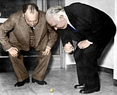 Wolfgang Pauli and Niels Bohr, physicists