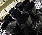 Merlin engines on Falcon 9 rocket from SpaceX, 2015