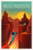 Martian colonization and tourism poster