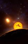 Proxima Centauri b exoplanet, illustration