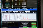 Stable beams following LHC restart at CERN