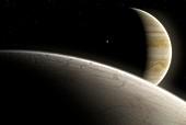 Artwork of Europa and Jupiter