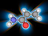 Acrylamide organic compound molecule
