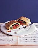 Tomato spinach rolls