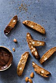 Whole wheat almond biscotti
