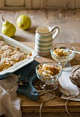 Pear and almond cobbler
