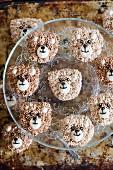 Bear head cupcakes