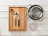 Kitchen utensils for making caprese risotto