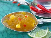 Mango jam with chilli and lime
