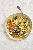 Zwiebel-Orangen-Salat mit Fenchel und frischer Minze