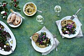 Black Lentil Kale Broccoli Salad with Charred Broccoli Pesto