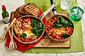 Baked Eggs and Beans