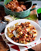 Pappardelle with slow-cooked beef