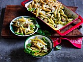 Chicken and pesto pasta bake
