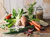 Soup ingredients for vegans