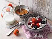 Coconut yoghurt with fresh berries