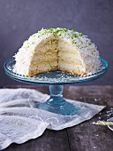 A snowball cake with limes