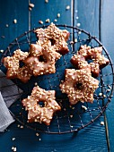 Star-shaped cinnamon doughnuts for Christmas